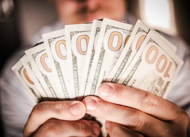 100 dollar bills on hand